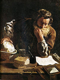 Archimedes in study