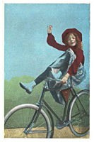 Girl riding on bike