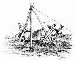 stepping mast