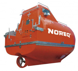 Rollover capable rescue lifeboats