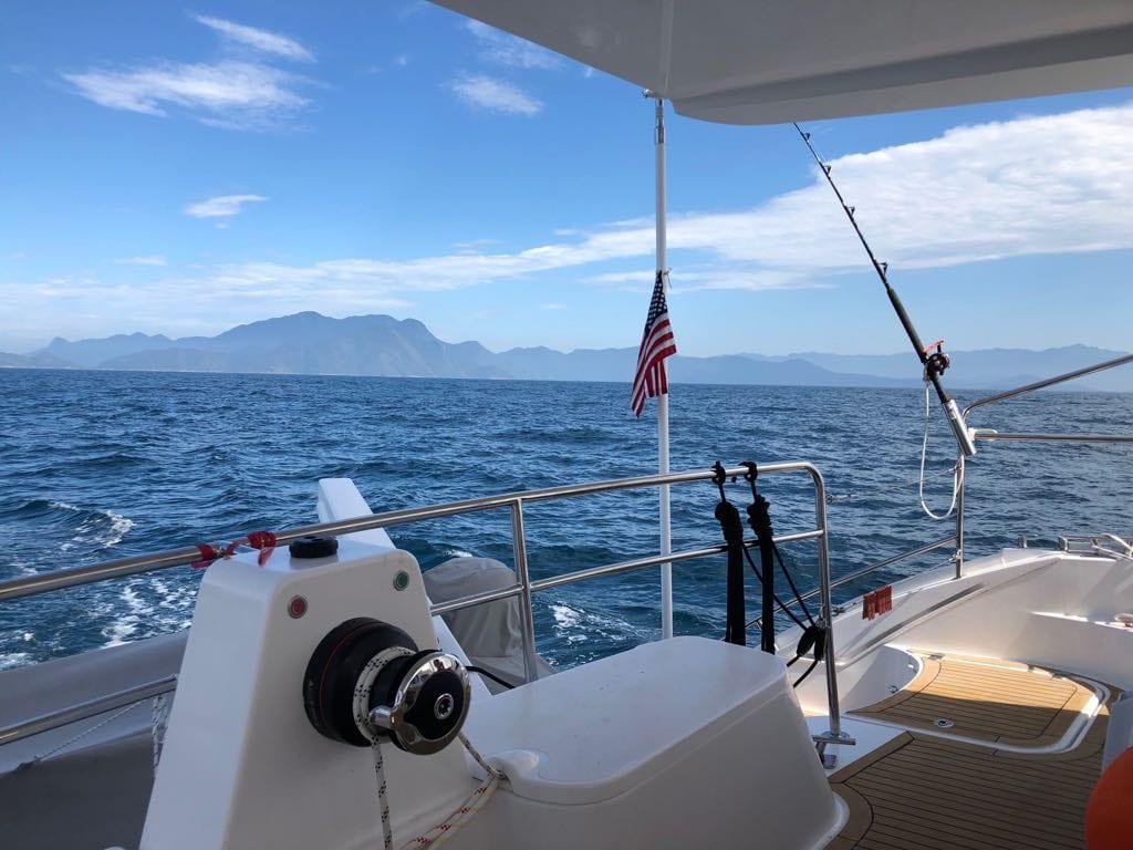Seahorse Sailing towards Angra Brazil for a stop