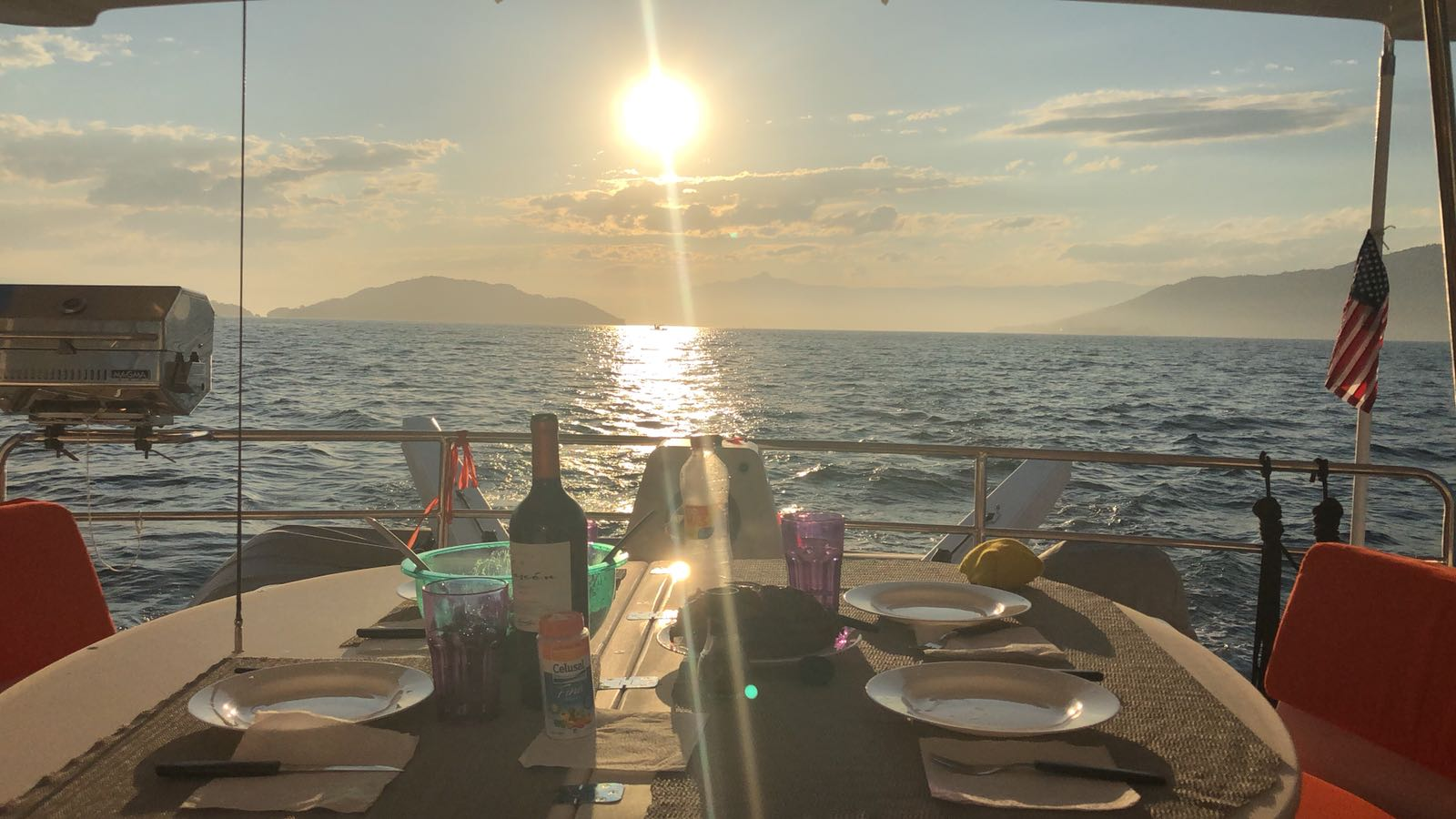 Sunset Dinner aboard Seahorse Antares 44 GS